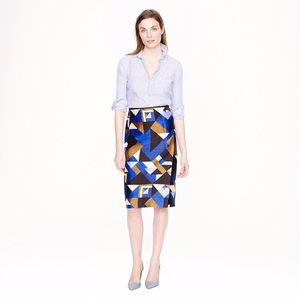 J.Crew Collection Pencil Wrap Skirt in CubistPrint